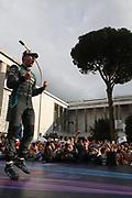 # 20, Mitch EVANS, NZL, Panasonic Jaguar Racing , Jaguar, I-Type III<br /> Race winner in Rome - Podium celebration.<br /> ROME, ITALY, 13. April 2019, Formula E, ROME, ROMA, ROM, Formula Electric, the Formula Electric Race in the streets of Rome -  fee liable image - Photo Credit: &copy; ATP / Arthur THILL