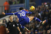 Oldham Athletic Striker Aaron Amadi Holloway (10) during the EFL Sky Bet League 1 match between Oldham Athletic and Peterborough United at Boundary Park, Oldham, England on 24 January 2017. Photo by Simon Brady.