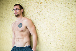 Portrait of Luka Turk, former Slovenian swimmer, on February 23, 2017 in Tomacevo, Ljubljana, Slovenia. Photo by Vid Ponikvar / Sportida