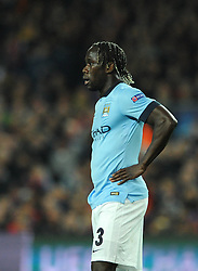Manchester City's Bacary Sagna cuts a dejected figure - Photo mandatory by-line: Dougie Allward/JMP - Mobile: 07966 386802 - 18/03/2015 - SPORT - Football - Barcelona - Nou Camp - Barcelona v Manchester City - UEFA Champions League - Round 16 - Second Leg
