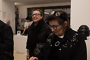 JULIA ROYCE, SANDRA ESQUILANT;, Miss Sue Webster hosts the launch of her book <br /> 'I Was a Teenage Banshee' The Mole House , Dalston. 17 October 2019