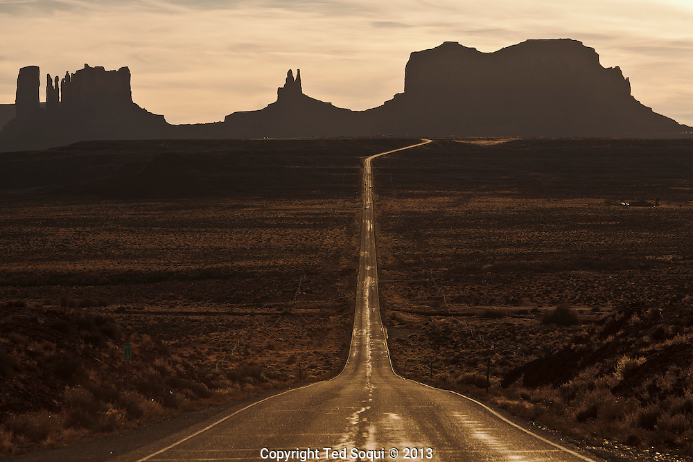 """A long rode in to Monument Valley. This spot was also made famous in the film Forrest Gump."""""""
