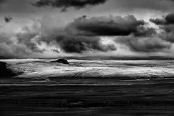 The glacier Hofsjokull on the route, Sprengisandur, Iceland - Hofsjökull séð frá Sprengisandsleið