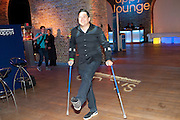 DOM JOLY, THE CARPHONE WAREHOUSE APPYS AWARDS, Vinopolis, Stoney Street,  London 11 April 2011. . -DO NOT ARCHIVE-© Copyright Photograph by Dafydd Jones. 248 Clapham Rd. London SW9 0PZ. Tel 0207 820 0771. www.dafjones.com.