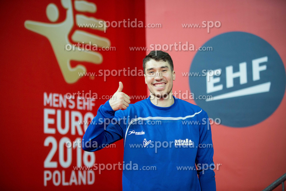 Alex Dujshebaev after the practice session of Team Spain on Day 1 of Men's EHF EURO 2016, on January 15, 2016 in Centennial Hall, Wroclaw, Poland. Photo by Vid Ponikvar / Sportida