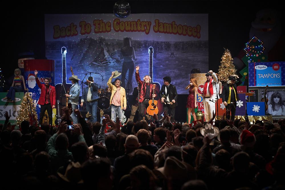 AUSTIN, TX - December 16:  Robert Earl Keen and the Robert Earl Keen Band in concert at ACL Live at the Moody Theater in Austin, Texas on December 16 2017. (Photograph ©2017 Darren Carroll)