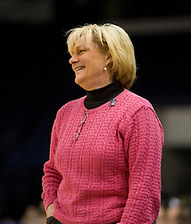 Virginia head coach Debbie Ryan.  The #4 seed/#24 ranked Virginia Cavaliers defeated the #13 seed Santa Barbara Gauchos 86-52 in the first round of the 2008 NCAA Division 1 Women's Basketball Championship at the Ted Constant Convocation Center in Norfolk, VA on March 23, 2008