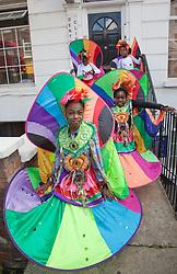 © Licensed to London News Pictures. 28/08/2011. London, UK. Notting Hill Carnival 2011 on Children's Day. Group: Sunshine International. Photo credit: Bettina Strenske/LNP