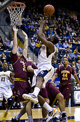 February 27, 2010; Berkeley, CA, USA;  California Golden Bears forward Theo Robertson (24) shoots over Arizona State Sun Devils guard Ty Abbott (3) during the first half at Haas Pavilion.  California defeated Arizona State 62-46