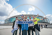 Tranmere Rovers fans outside Wembley Stadium before the Vanarama National League Play Off Final match between Tranmere Rovers and Forest Green Rovers at Wembley Stadium, London, England on 14 May 2017. Photo by Mark P Doherty.