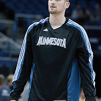 04 October 2010: Minnesota Timberwolves forward Kevin Love #42 is seen during the Minnesota Timberwolves 111-92 victory over the Los Angeles Lakers, during 2010 NBA Europe Live, at the O2 Arena in London, England.