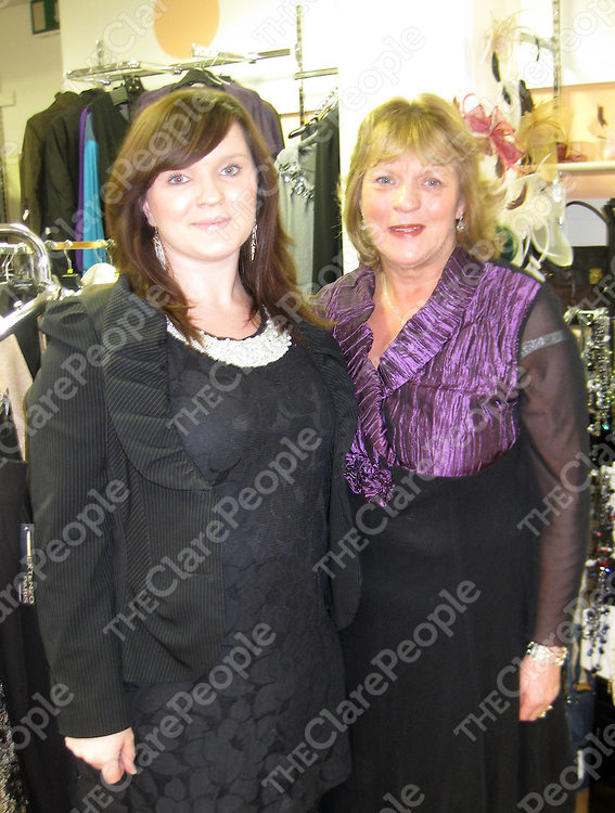 Aoife and Annette Daffy marking the 20th anniversary of Annette's Boutique in Clarecastle.
