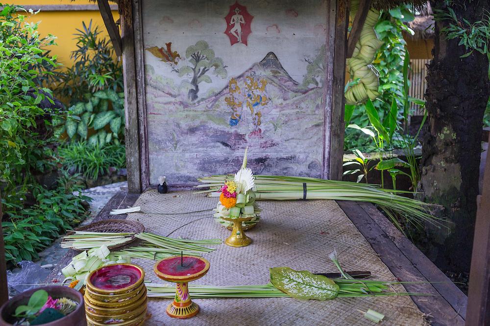 Hand-made decorations at Tugu Hotel Bali.