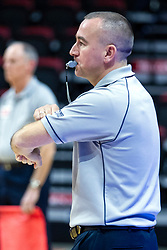 BLOOMINGTON, IL - November 22: Marek Fracz during a college Women's volleyball match between the ISU Redbirds and the Sycamores of Indiana State on November 22 2019 at Illinois State University in Normal, IL. (Photo by Alan Look)