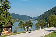 Radweg an der Donau bei Engelhartszell, Oberösterreich, Österreich | cycleway near Engelhartszell, Danube, Austria