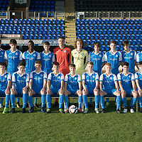 St Johnstone FC Academy U16/17..  Season 2017/18<br />Pictured back row from left, Igor Spuryk, Thomas Gray, Jordon Bow, Diste Sylla, Kyle Woolley, Ross Sinclair, Jack Wills, Jordan Walker, Harris Chater, Andrew McKay, Gregor Donald and Josh Redmond.<br />Front row from left, Murray Findlay, Andrew McKenzie, Gavin Campbell, Thomas Penker, Jordan Northcott, Ciaran Ferns, Kyle Green, Olly Hamilton and Chris Finnie.<br />Picture by Graeme Hart.<br />Copyright Perthshire Picture Agency<br />Tel: 01738 623350  Mobile: 07990 594431