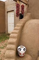 Front Porch of Adobe Home, Taos Pueblo, New Mexico