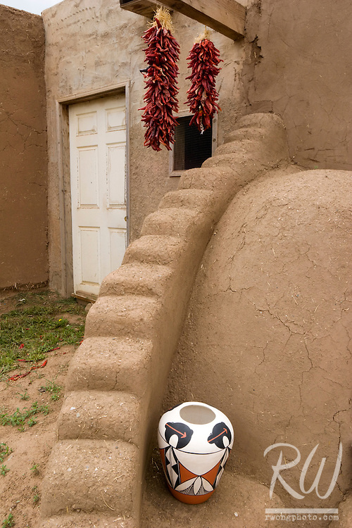 Front Porch of Adobe Home, Taos Pueblo, New Mexico
