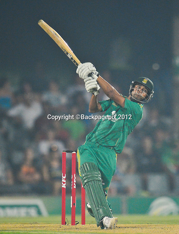 Robin Peterson of South Africa during the 2012 KFC T20 International between South Africa and New Zealand at Buffalo Park in East London, South Africa on December 23, 2012 ©Barry Aldworth/BackpagePix