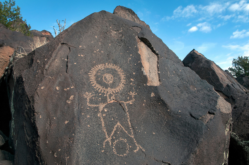 One of the petroglyphs at Wells Petroglyph Preserve in Lyden Friday, Nov. 14, 2014. (Eddie Moore/Albuquerque Journal)