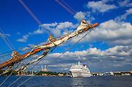 Fartyg på Strömmen i Stockholm.