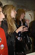Daniella Felder and Annette Felder, Stephen Jones exhibition to celebrate 25 years in business, private view & reception. Dover Street Market, 17-18 Dover Street, London, W1, 1 December  2005. ONE TIME USE ONLY - DO NOT ARCHIVE  © Copyright Photograph by Dafydd Jones 66 Stockwell Park Rd. London SW9 0DA Tel 020 7733 0108 www.dafjones.com