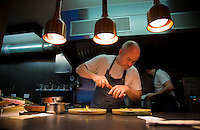 Dublin, Ireland - September 16, 2014: John Wyer of Forest Avenue works in the kitchen. Forest Avenue is making waves in the Dublin food scene with an adventurous take on traditional flavors on their tasting menus. CREDIT: Chris Carmichael for the New York Times