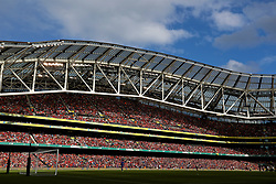 DUBLIN, REPUBLIC OF IRELAND - Saturday, August 5, 2017: Liverpool supporters fill the stadium during a preseason friendly match between Athletic Club Bilbao and Liverpool at the Aviva Stadium. (Pic by David Rawcliffe/Propaganda)