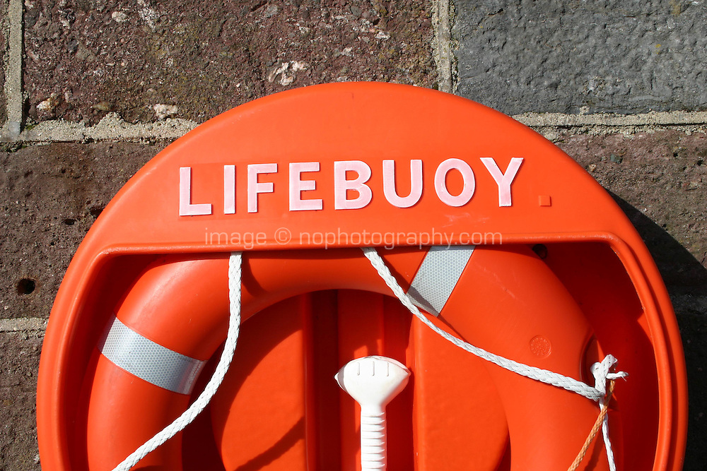 Lifebuoy, Dunmore East Harbour, Waterford, Ireland