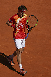 May 7, 2019 - Madrid, Spain - David Ferrer of spain during day four of the Mutua Madrid Open at La Caja Magica on May 07, 2019 in Madrid, Spain  (Credit Image: © Oscar Gonzalez/NurPhoto via ZUMA Press)