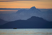 Chugach Mountains at dusk from HErring Bay, Prince William Sound, Alaska