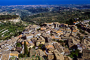 Gerace, a perfectly preserved medieval town once home to 128 churches. Landscape.