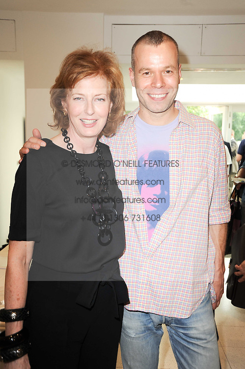JULIA PEYTON-JONES and WOLFGANG TILLMANS at a private view of work by Wolfgang Tillmans at The Serpentine Gallery, Kensington Gardens, London on 25th June 2010.