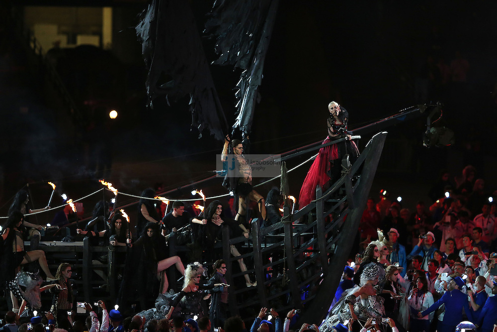 Annie Lennox performs during Closing Ceremonies during day 16 of the London Olympic Games in London, England, United Kingdom on August 12, 2012..(Jed Jacobsohn/for The New York Times)..