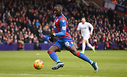 Yannick Bolasie on the turn during the Barclays Premier League match between Crystal Palace and Liverpool at Selhurst Park, London, England on 6 March 2016. Photo by Michael Hulf.