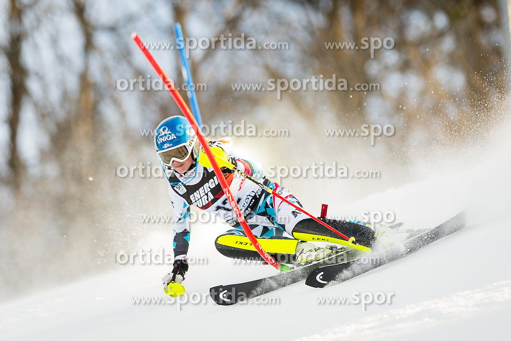 """Bernadette Schild (AUT) during FIS Alpine Ski World Cup 2016/17 Ladies Slalom race named """"Snow Queen Trophy 2017"""", on January 3, 2017 in Course Crveni Spust at Sljeme hill, Zagreb, Croatia. Photo by Žiga Zupan / Sportida"""