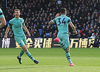 Football - 2018 / 2019 Premier League - Crystal Palace vs. Arsenal<br /> <br /> Granit Xhaka celebrates his goal, direct from a free kick, at Selhurst Park.<br /> <br /> COLORSPORT/ANDREW COWIE