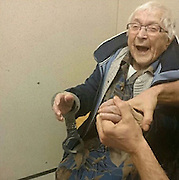 "99-Year-Old Woman Gets Arrested And Put In Jail for Her Bucket List<br /> <br /> 99-year-old Annie wanted to get arrested before the end of her lifetime, and her local police department was happy to help.<br /> <br /> According to an official Facebook statement from the Nijmegen-Zuid police station, Annie was ""briefly allowed"" to sit in a cell with fastened handcuffs after officers picked her up from her home. Citizens who haven't committed a crime are usually not permitted in cells, but a rare exception was made for Annie.<br /> ©Nijmegen-Zuid policeExclusivepix Media"