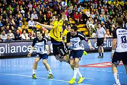 Kristian Beciri of Gorenje during the handball match between RK Gorenje Velenje and SG Flensburg-Handewitt (GER) in 10th Round of EHF Champions League 2014 on February 22, 2014 in Rdeca Dvorana, Velenje, Slovenia. Photo by Matic Klansek Velej / Sportida