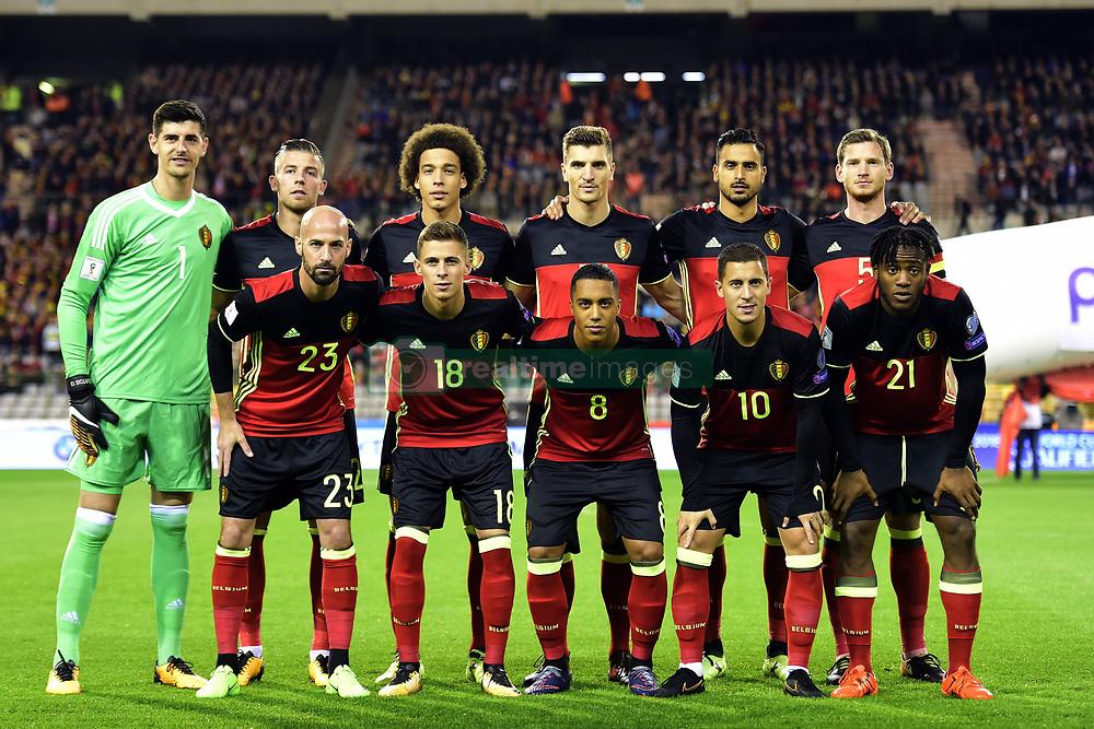 October 10, 2017 - Bruxelles, Belgique - The players of Belgian National (Credit Image: © Panoramic via ZUMA Press)