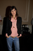 Bella Freud, Book launch of Truth or Dare,  edited by Justine Picardie. House of St. Barnabus. Sales of the book at the launch went towards Breast  Cancer  Care. Greek St. London. 30 September 2004. SUPPLIED FOR ONE-TIME USE ONLY-DO NOT ARCHIVE. © Copyright Photograph by Dafydd Jones 66 Stockwell Park Rd. London SW9 0DA Tel 020 7733 0108 www.dafjones.com