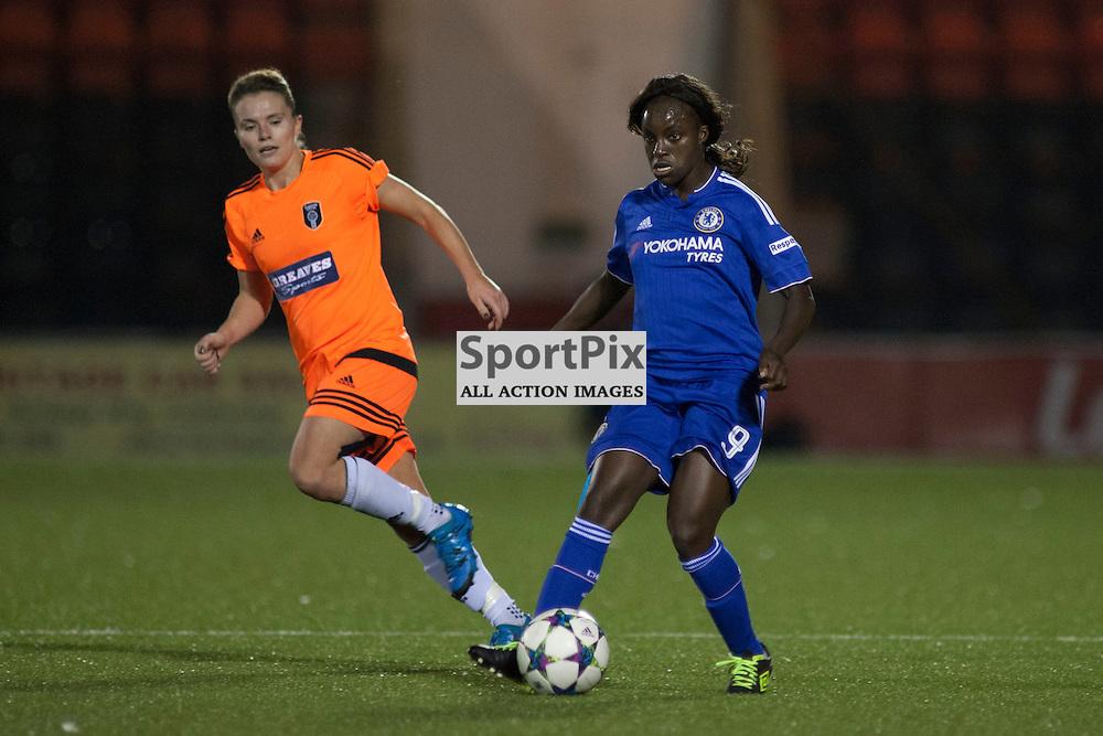Eniola Aluko who scored the opening goal in the Glasgow City v Chelsea LFC Women's Champions League last-32 2nd Leg 14 October 2015<br /> <br /> (c) Russell G Sneddon / SportPix.org.uk