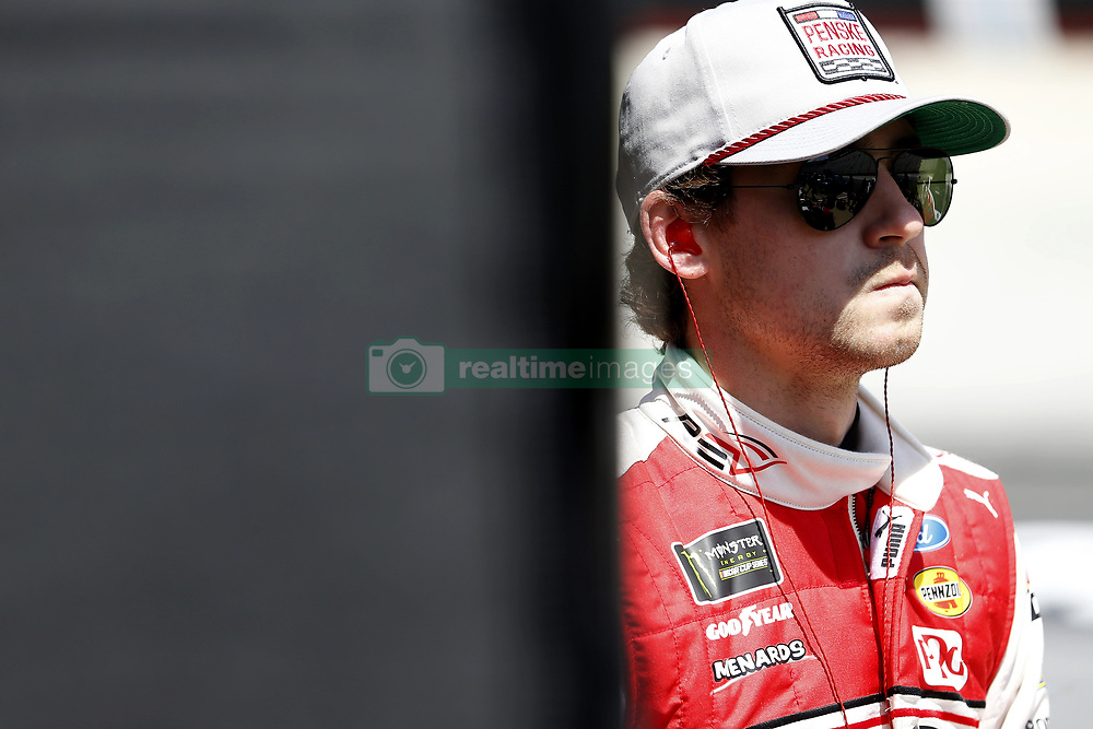 April 13, 2018 - Bristol, Tennessee, United States of America - April 13, 2018 - Bristol, Tennessee, USA: Ryan Blaney (12) gets ready to practice for the Food City 500 at Bristol Motor Speedway in Bristol, Tennessee. (Credit Image: © Stephen A. Arce/ASP via ZUMA Wire)