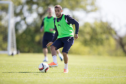 Falkirk's Tom Taiwo. Falkirk FC training at Swansea's training pitches, before next weeks Cup Final.