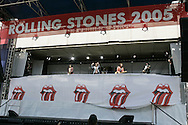 The Rolling Stones at a perform at a press confrence annoncing there 2005 world tour in New York Tuesday 10 May 2005.