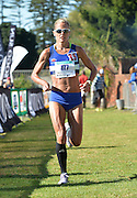 EAST LONDON, SOUTH AFRICA - FEBRUARY 20: Tanith Maxwell of Western Province finishes third during the ASA Marathon Championships in East London on February 20, 2015 in South Africa. (Photo by Roger Sedres/Gallo Images)