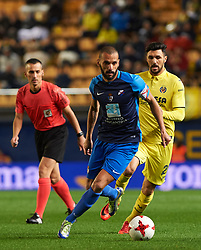 November 30, 2017 - Vila-Real, Castellon, Spain - Roberto Soriano of Villarreal CF and Yuri of SD Ponferradina during the Copa del Rey, Round of 32, Second Leg match between Villarreal CF and SD Ponferradina at Estadio de la Ceramica on november 30, 2017 in Vila-real, Spain. (Credit Image: © Maria Jose Segovia/NurPhoto via ZUMA Press)