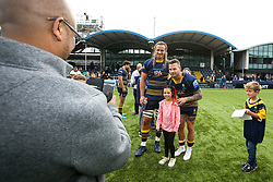 Anton Bresler of Worcester Warriors and Francois Hougaard of Worcester Warriors pose for a picture with fans - Mandatory by-line: Robbie Stephenson/JMP - 15/09/2018 - RUGBY - Sixways Stadium - Worcester, England - Worcester Warriors v Newcastle Falcons - Gallagher Premiership