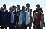 10/10/15- SOMMET DU PUY DE DOME - PUY DE DOME - FRANCE - Segolene ROYAL Ministre de l ecologie, du developpement durable et de l energie en visite au Sommet du Puy de Dome dans le cadre de la signature des conventions: Territoire a energie positive pour la croissance verte - Photo Jerome CHABANNE