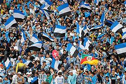 Torcida gremista na partida entre as equipes do Internacional e Grêmio, válida pela final da Copa Farroupilha, no Estádio Beira Rio, em Porto Alegre. FOTO: Jefferson Bernardes/Preview.com